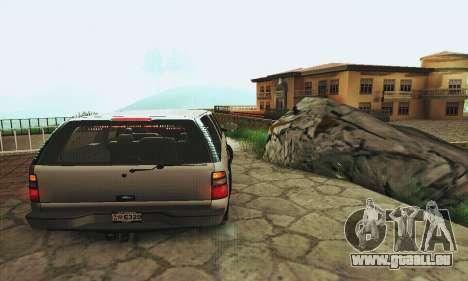 Chevrolet Suburban SAPD FBI pour GTA San Andreas vue de droite
