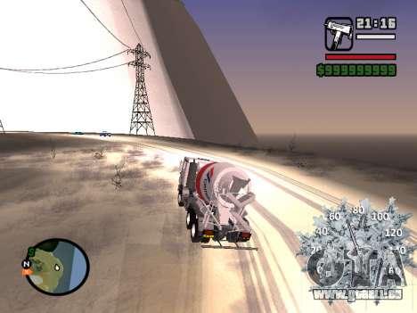 Nouveau compteur de vitesse pour GTA San Andreas quatrième écran