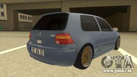 Volkswagen Golf MK4 Gti Eurolook für GTA San Andreas rechten Ansicht