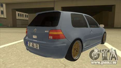 Volkswagen Golf MK4 Gti Eurolook pour GTA San Andreas vue de droite