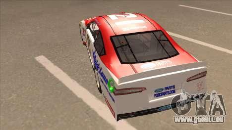 Ford Fusion NASCAR No. 21 Motorcraft Quick Lane für GTA San Andreas Rückansicht