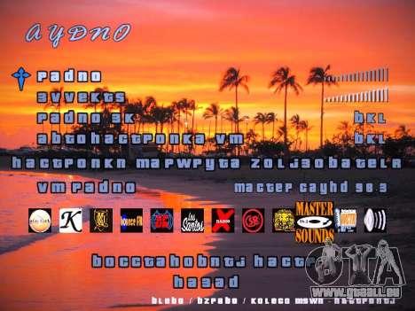 Nouveau menu pour GTA San Andreas cinquième écran