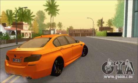 BMW M5 Vossen pour GTA San Andreas vue arrière