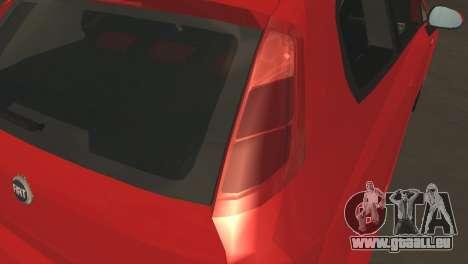 Fiat Grande Punto pour GTA San Andreas vue intérieure