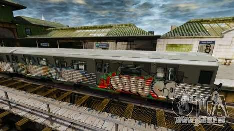 Nouveau graffiti sur la v2 de métro pour GTA 4 secondes d'écran