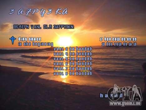 Nouveau menu pour GTA San Andreas troisième écran