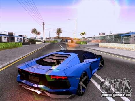Lamborghini Aventador LP700-4 Vossen 2012 V2.0 F pour GTA San Andreas vue arrière