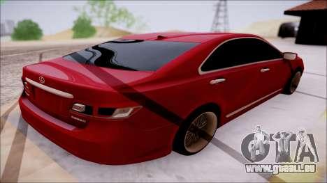 Lexus ES350 2010 für GTA San Andreas Rückansicht