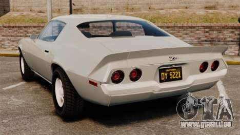 Chevrolet Camaro Z28 1970 pour GTA 4 Vue arrière de la gauche