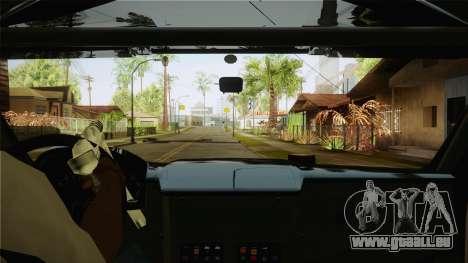 Bowler EXR S 2012 HQLM pour GTA San Andreas vue intérieure