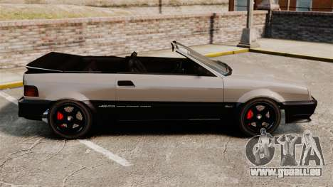 La version cabriolet de la Blista pour GTA 4 est une gauche