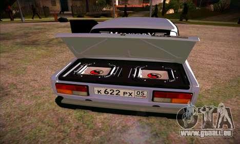 VAZ 2107 (05) pour GTA San Andreas sur la vue arrière gauche