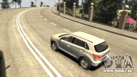 Mitsubishi ASX 2010 für GTA 4 linke Ansicht