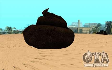 Merde volante pour GTA San Andreas laissé vue