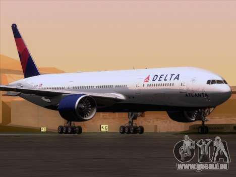 Boeing 777-200ER Delta Air Lines pour GTA San Andreas laissé vue