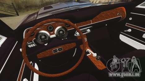 Shelby GT500 pour GTA 4 est une vue de l'intérieur