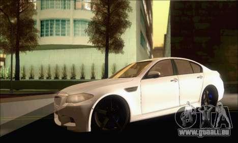 BMW M5 Vossen pour GTA San Andreas laissé vue