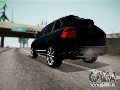 Porsche Cayenne pour GTA San Andreas laissé vue