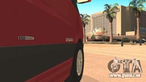 Mercedes-Benz Sprinter pour GTA San Andreas laissé vue