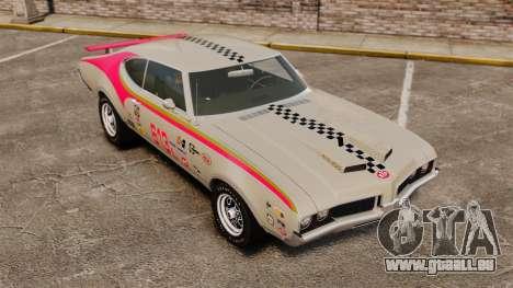 Oldsmobile Cutlass Hurst 442 1969 v2 pour GTA 4 est un côté