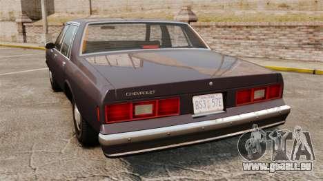 Chevrolet Impala 1985 pour GTA 4 Vue arrière de la gauche