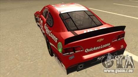 Chevrolet SS NASCAR No. 39 Quicken Loans für GTA San Andreas Rückansicht