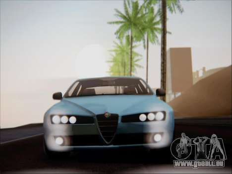 Alfa Romeo 159 Sedan pour GTA San Andreas vue intérieure