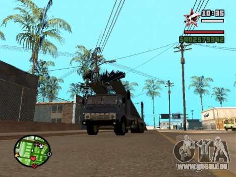 Camion KAMAZ 43085 pour GTA San Andreas laissé vue