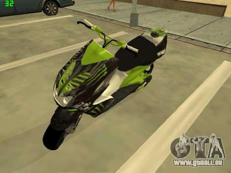 Yamaha Aerox für GTA San Andreas zurück linke Ansicht