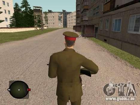 Major général de l'armée russe pour GTA San Andreas troisième écran
