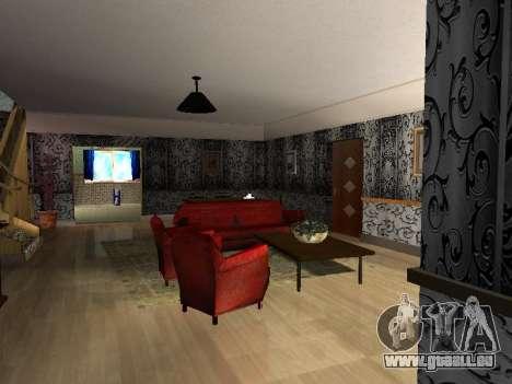 Innen 2-stöckige Neubau CJ für GTA San Andreas zweiten Screenshot
