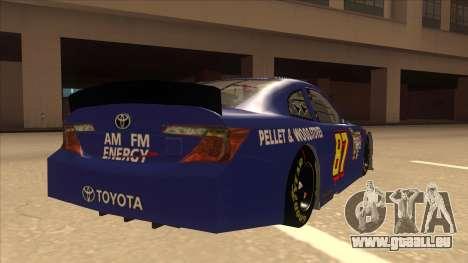 Toyota Camry NASCAR No. 87 AM FM Energy pour GTA San Andreas vue de droite