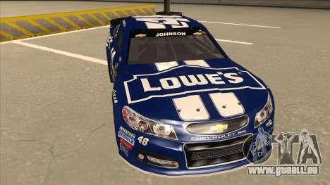 Chevrolet SS NASCAR No. 48 Lowes blue für GTA San Andreas linke Ansicht
