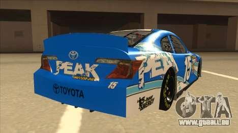 Toyota Camry NASCAR No. 15 Peak für GTA San Andreas rechten Ansicht
