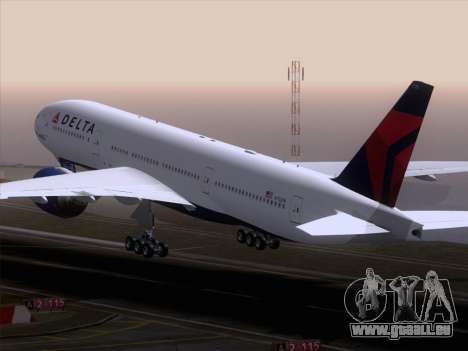 Boeing 777-200ER Delta Air Lines für GTA San Andreas