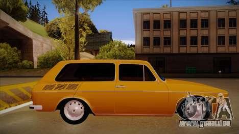 VW Variant 1972 pour GTA San Andreas sur la vue arrière gauche