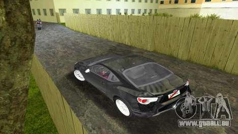 Subaru BRZ Type 2 pour une vue GTA Vice City de la droite