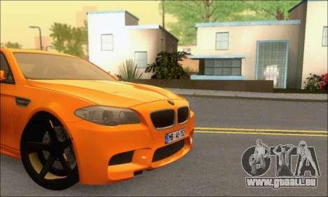 BMW M5 Vossen pour GTA San Andreas vue intérieure