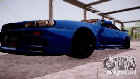 Nissan Skyline GT-R R34 pour GTA San Andreas vue de côté