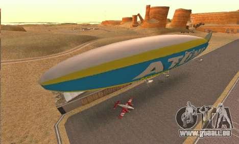 Zepellin GTA V pour GTA San Andreas laissé vue