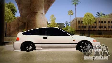 Honda CRX JDM Style pour GTA San Andreas sur la vue arrière gauche