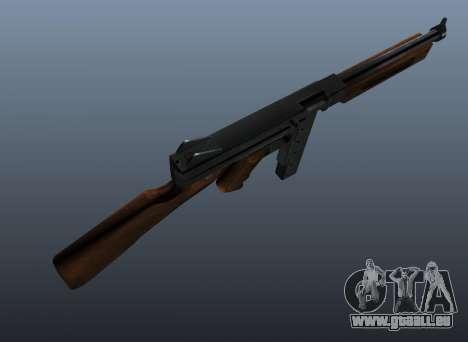 M1a1 Thompson submachine gun v2 pour GTA 4 troisième écran