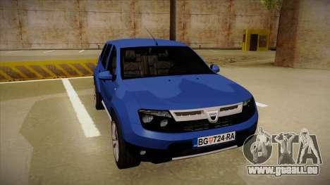 Dacia Duster SUV 4x4 pour GTA San Andreas laissé vue