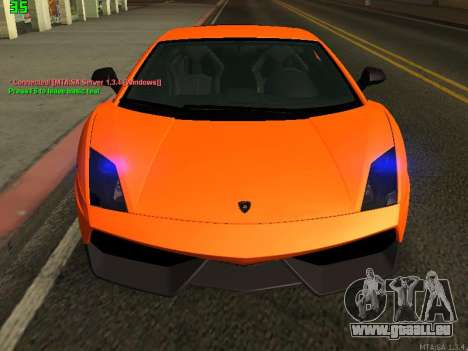 Lamborghini Gallardo LP560-4 SL UGR Altecho pour GTA San Andreas laissé vue
