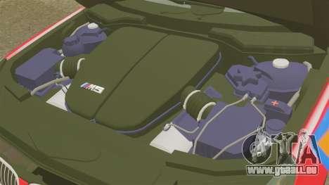 BMW M5 E60 Metropolitan Police 2010 ARV [ELS] pour GTA 4 est une vue de l'intérieur