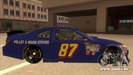 Toyota Camry NASCAR No. 87 AM FM Energy pour GTA San Andreas sur la vue arrière gauche