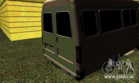 Gazelle Tuning pour GTA San Andreas sur la vue arrière gauche