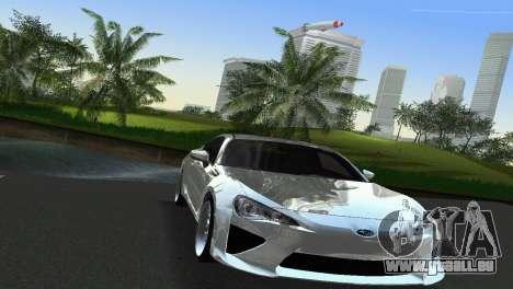 Subaru BRZ Type 2 pour une vue GTA Vice City de l'intérieur