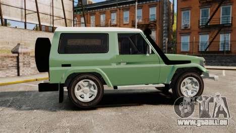 Toyota Land Cruiser 76 2005 pour GTA 4 est une gauche