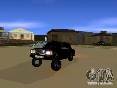 ВАЗ 2107 pour GTA San Andreas laissé vue